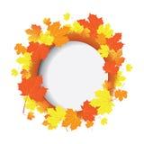 秋天与叶子的向量横幅 免版税库存照片