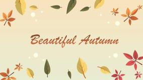 秋天与叶子的天背景英尺长度  股票视频