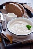 秋天乳脂状的汤 库存图片
