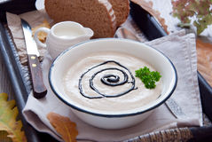 秋天乳脂状的汤 免版税图库摄影