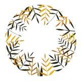 秋天五颜六色的叶子收藏 水彩框架 皇族释放例证
