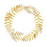 秋天五颜六色的叶子 水彩花圈 向量例证