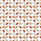 秋天五颜六色的叶子仿造无缝 库存照片