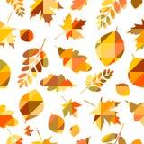 秋天例证留给模式无缝的向量 免版税图库摄影