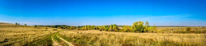 秋天全景 美妙和好看法 库存照片