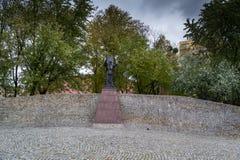 秋天公园在市罗兹,波兰 免版税库存图片