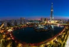 秋天公园在汉城市 免版税库存照片