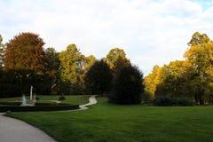 秋天公园的巨大风景 免版税库存照片