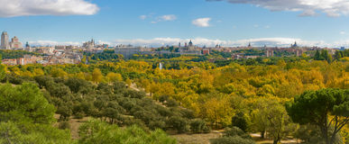 秋天凯姆帕住处de马德里西班牙 免版税库存图片