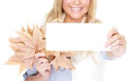 秋天出现的祝贺  免版税库存图片