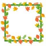 秋天包含文件框架叶子路径 免版税库存图片