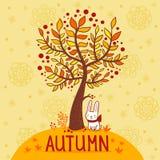 秋天卡片。 免版税库存图片