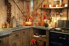 秋天厨房 库存照片