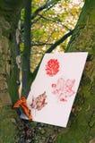 秋天叶子打印 免版税库存照片