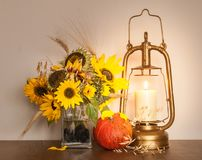 秋天向日葵安排 库存照片