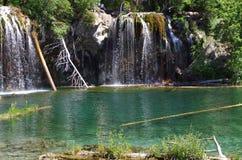 水秋天和湖的图片 免版税库存图片