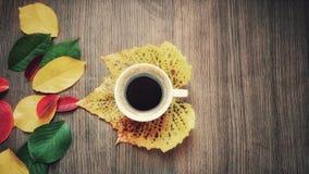 秋天咖啡 图库摄影
