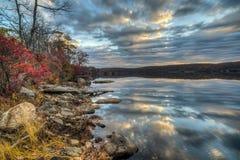 秋天哈立曼国家公园,纽约州 图库摄影