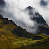 秋天喜马拉雅山西藏 免版税库存图片