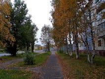 秋天在一个小镇 库存图片
