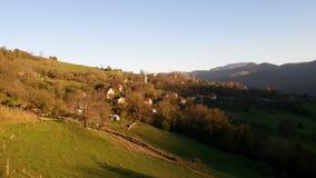 秋天在一个小镇 图库摄影