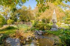 秋天在世田谷区公园 免版税库存图片