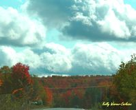 秋天在中央纽约 库存照片