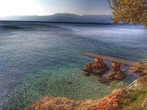 秋天在克罗地亚 库存照片