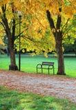 秋天在公园 免版税库存图片