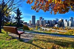 秋天在卡尔加里,加拿大 免版税库存图片