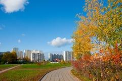 秋天在城市,莫斯科,俄国 库存照片