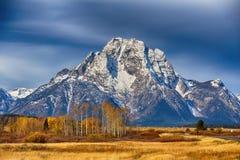 秋天在大提顿峰 免版税库存照片