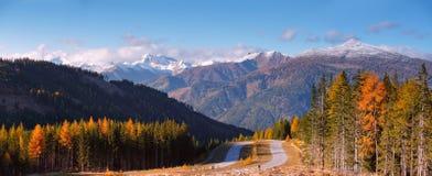 秋天在奥地利Apls 免版税库存图片