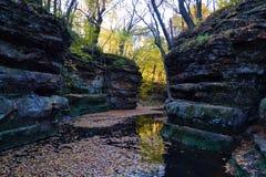 秋天在峡谷 免版税库存照片