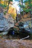 秋天在峡谷 库存图片