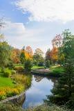 秋天在巨大捷克温泉渡假胜地Marianske Lazne Marienbad -捷克- [9月, 2017年11月] 免版税库存图片