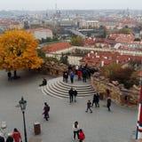 秋天在市布拉格 免版税库存图片