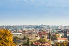 秋天在布拉格,捷克,欧洲 图库摄影