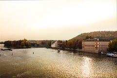 秋天在布拉格,捷克,欧洲 免版税库存照片