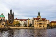 秋天在布拉格,捷克,欧洲 免版税库存图片