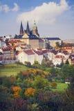 秋天在布拉格 库存图片