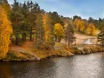 秋天在拉普兰 免版税库存图片