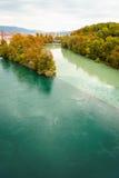 秋天在日内瓦 免版税图库摄影