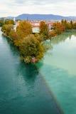 秋天在日内瓦 免版税库存图片