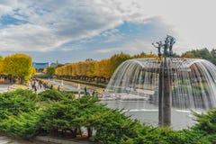 秋天在昭和纪念公园,立川市,日本 库存照片