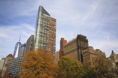 秋天在曼哈顿 免版税库存图片