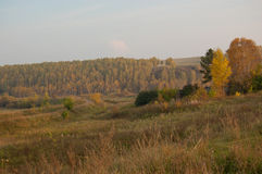 秋天在村庄 免版税库存照片