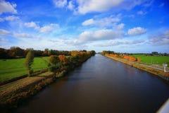 秋天在格罗宁根荷兰 免版税库存照片