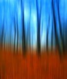 秋天在森林,绘的样式 库存照片