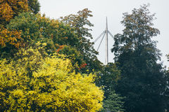 秋天在欧登塞,丹麦 图库摄影